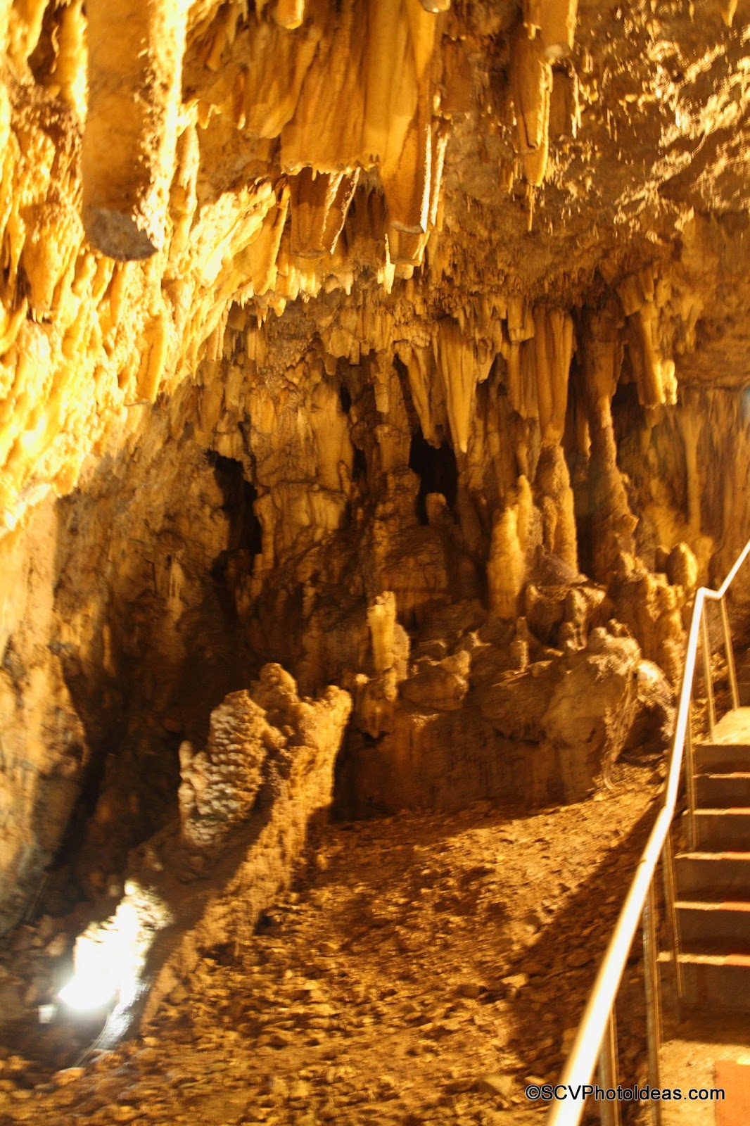 Drogarati Cave main chamber stalactite and stalagmite formations