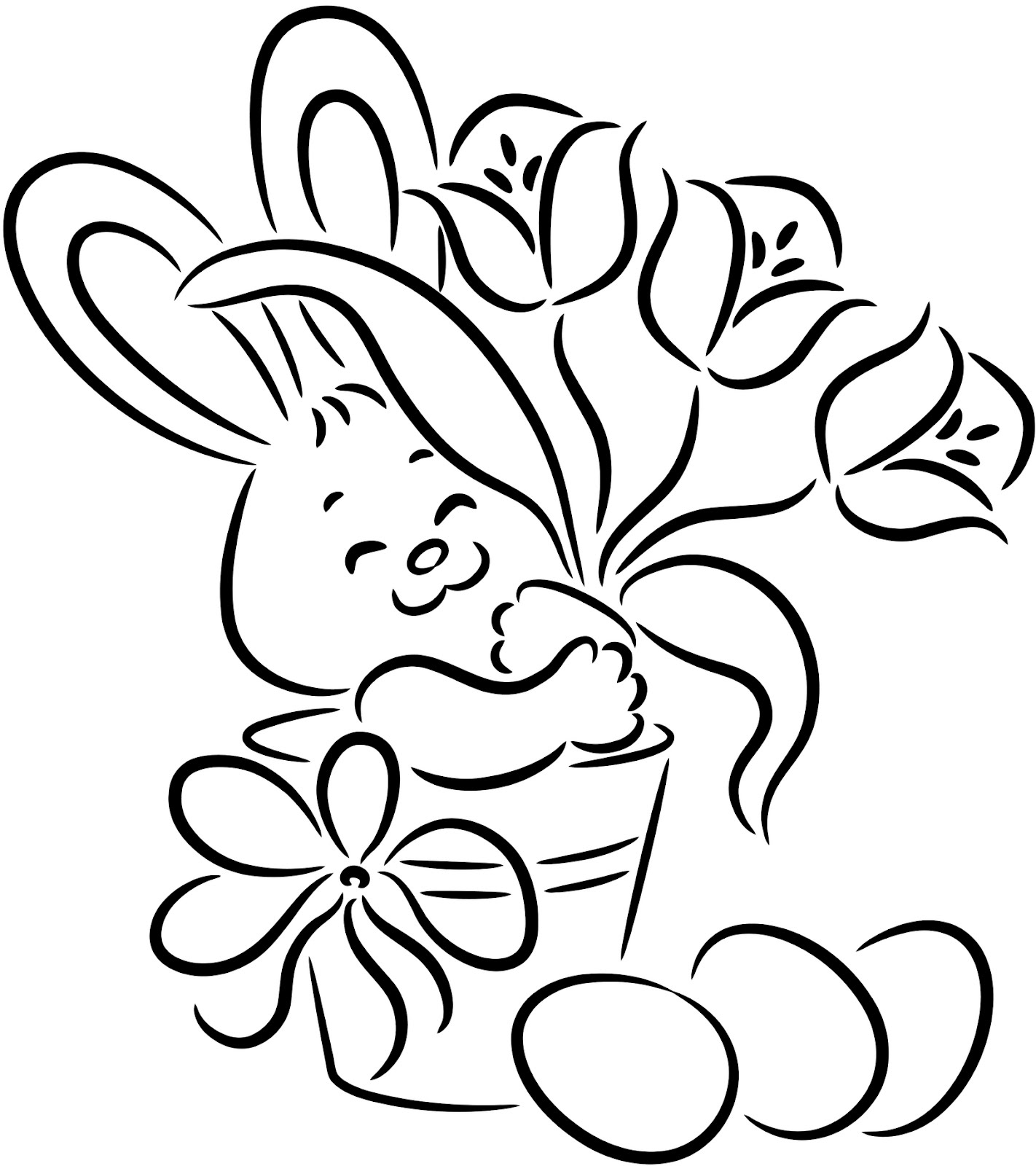 easter coloring pages easter bunny - photo#8