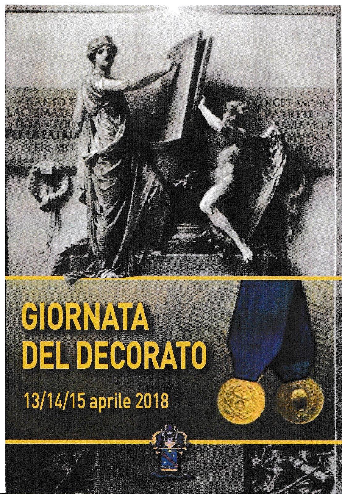 Giornata del Decorato Fosse Ardeatine 14 aprile 2018