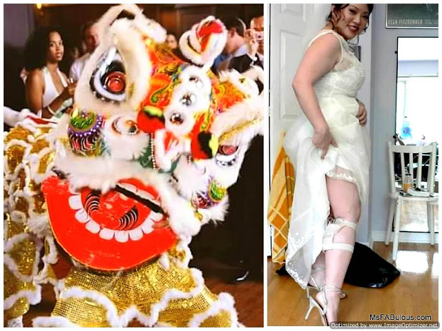 chinese lion dance wedding