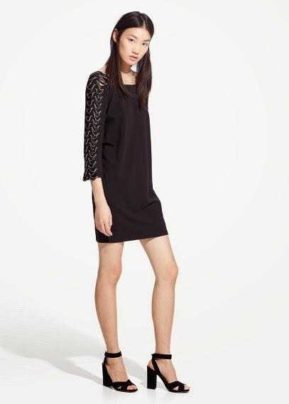 Mango 2015 Elbise Modelleri  siyah elbise kısa elbise, ofis elbisesi, dar kesim elbise