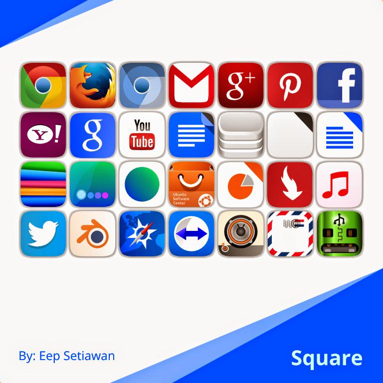 Square Icons no Ubuntu