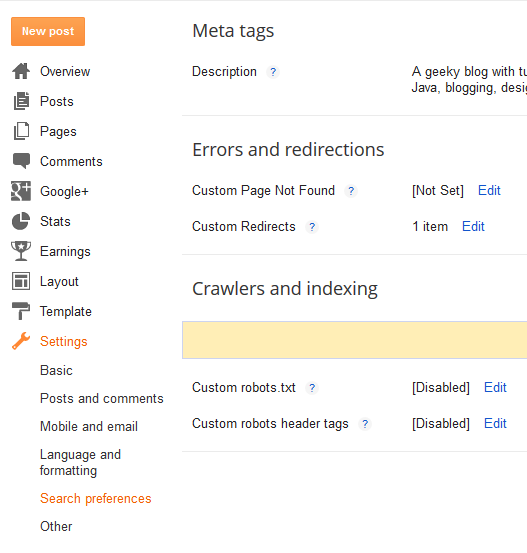 How To Setup Custom Redirects On Blogger To Point Old URL's To New Pages