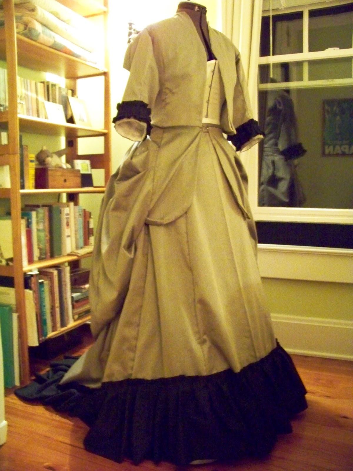 A Frolic through Time: Steampunk Black Dress: Progress...