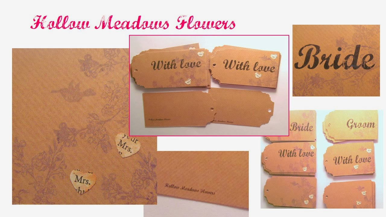 Customised flower labels by Pink Flamingo Handcrafting