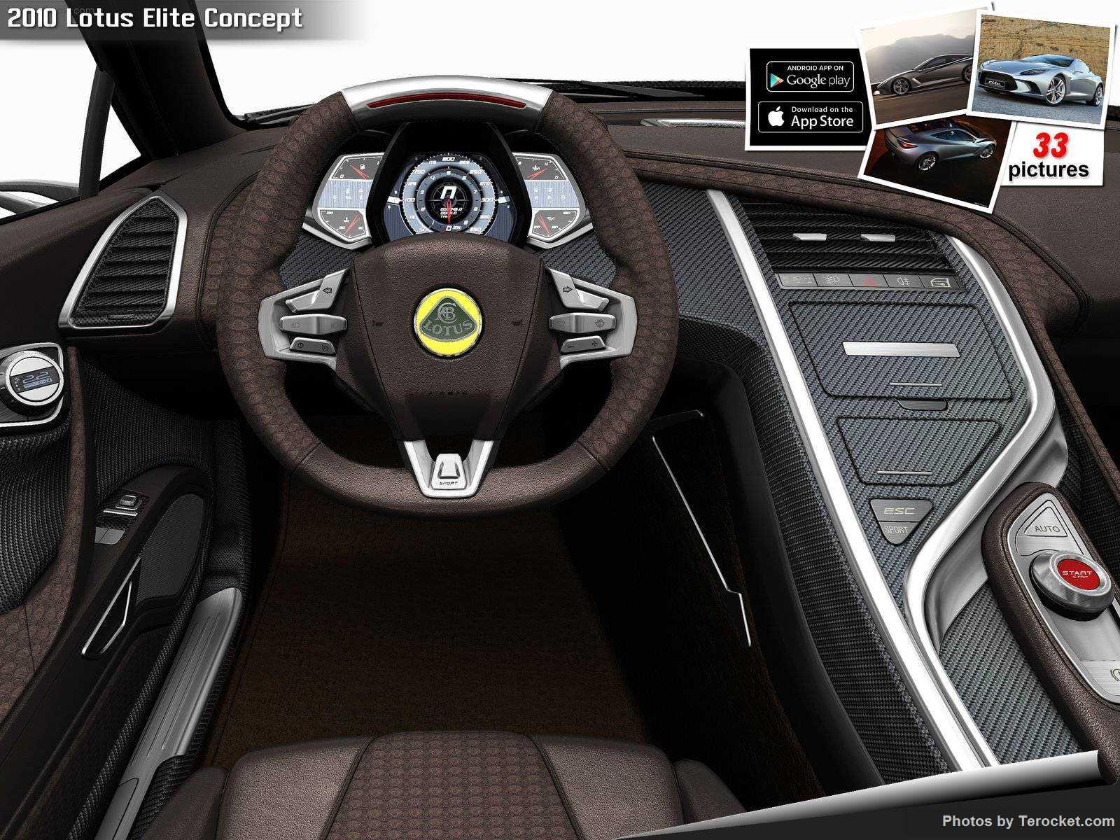 Hình ảnh siêu xe Lotus Elite Concept 2010 & nội ngoại thất