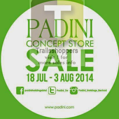 Padini Concept Store Sale 2014 offers
