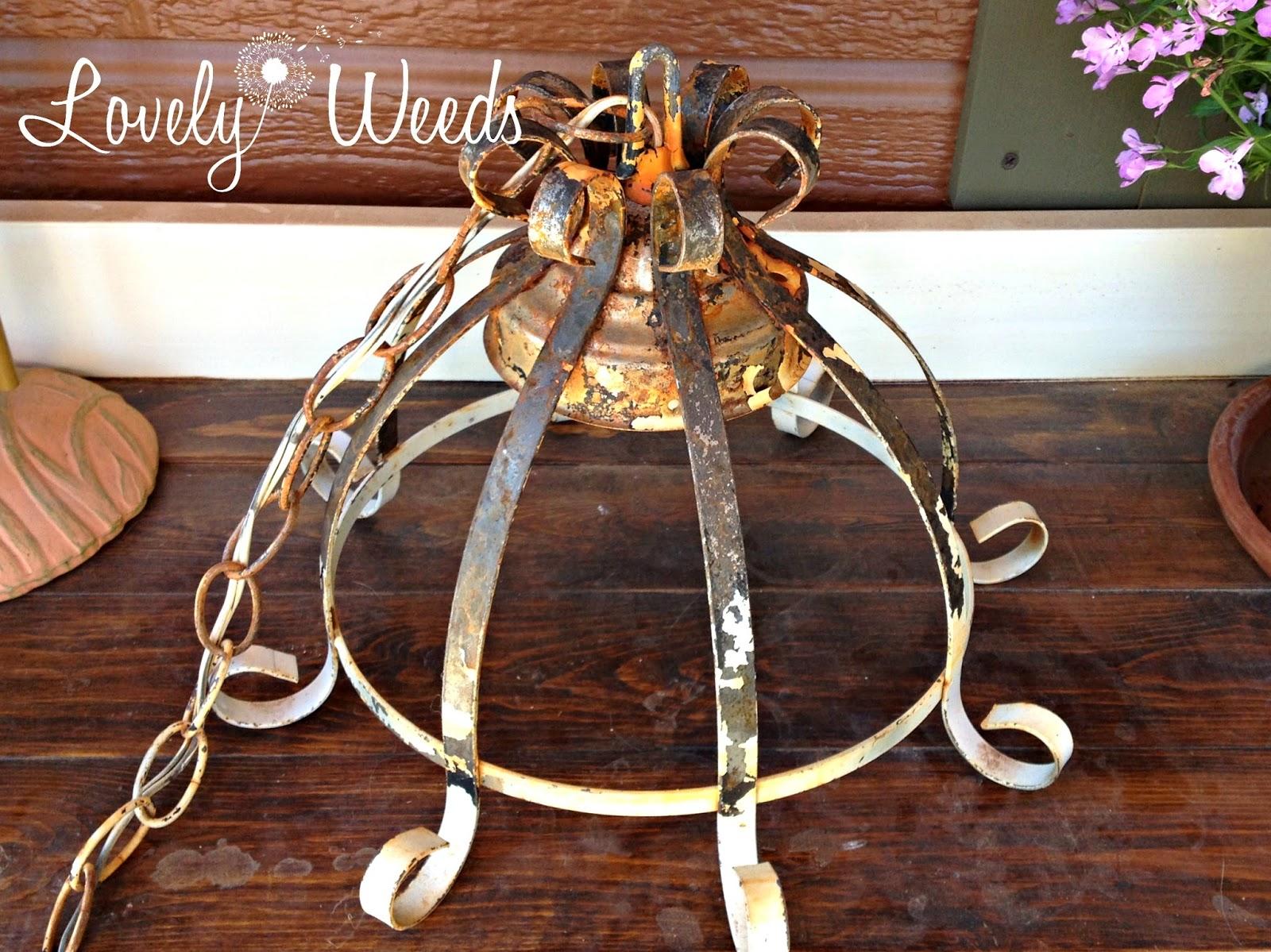 Solar light chandelier lovely weeds solar light chandelier arubaitofo Choice Image