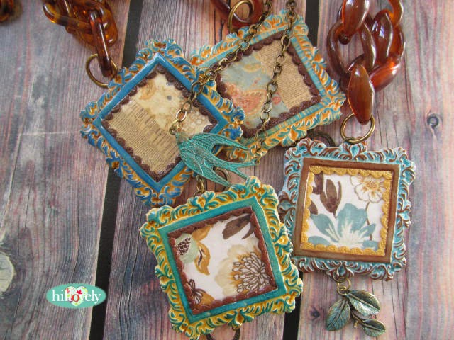ransfer paper, hillovely,hilla bushari, fimo, polymer clay, faux ceramic