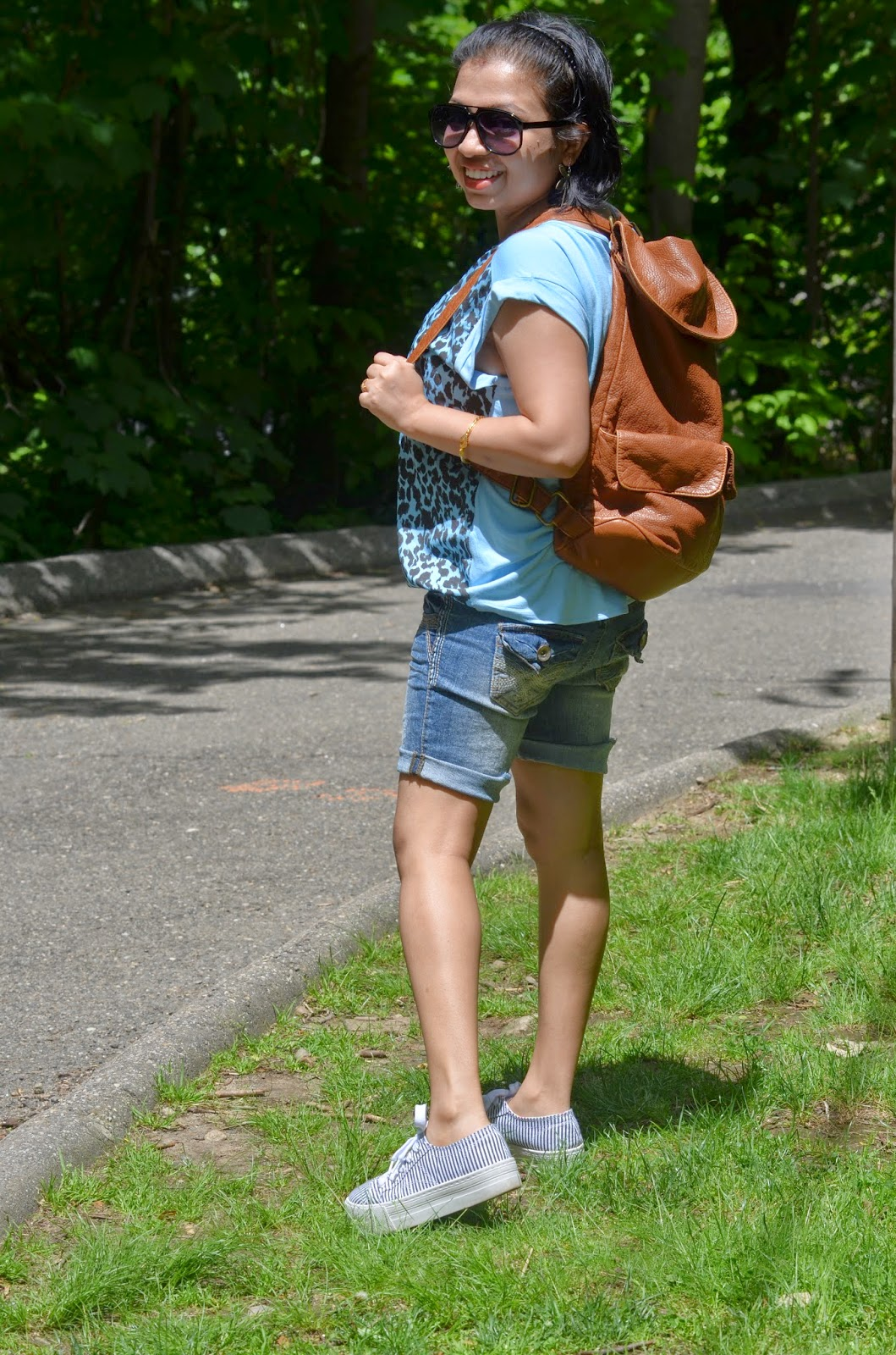 summer fashion, summer outfit, OOTD, NYC & Co top, Charlotte Russe shorts, Aeropostale Shoe