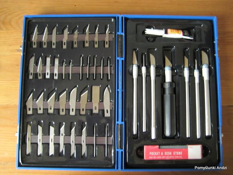 narzędzia, skalpele, do modeliny,