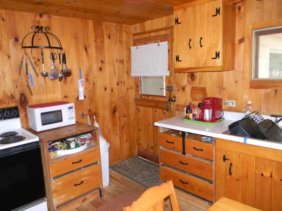 Julie 39 s portfolio cottage kitchen makeover - Knotty pine cabinets makeover ...