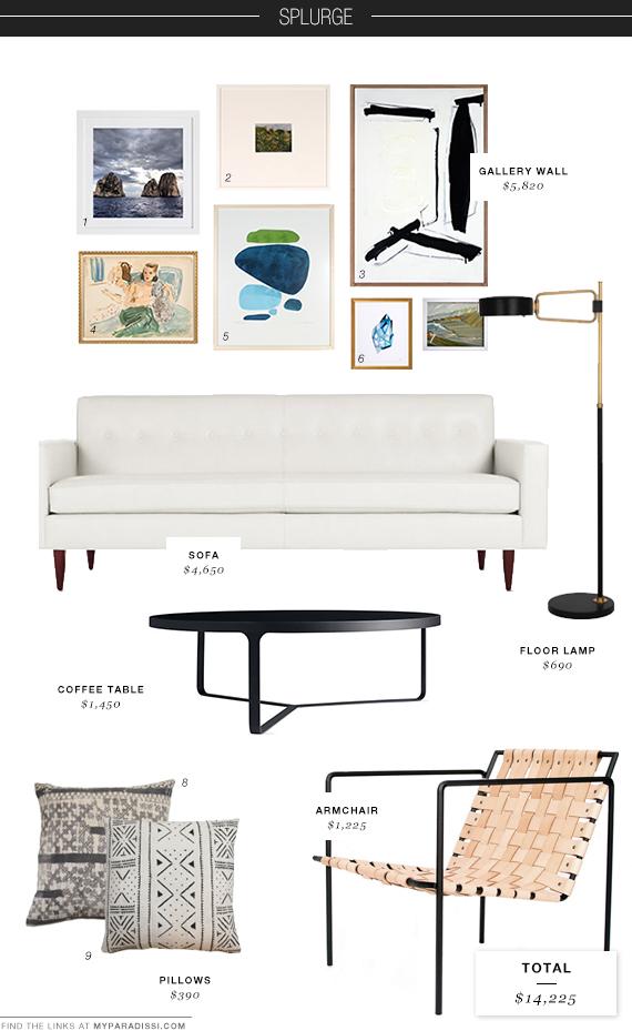 Sophisticated living room: Splurge moodboard   My Paradissi