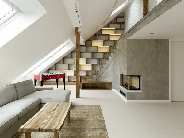 Rounded Loft in Prague by A1ARCHITECTS