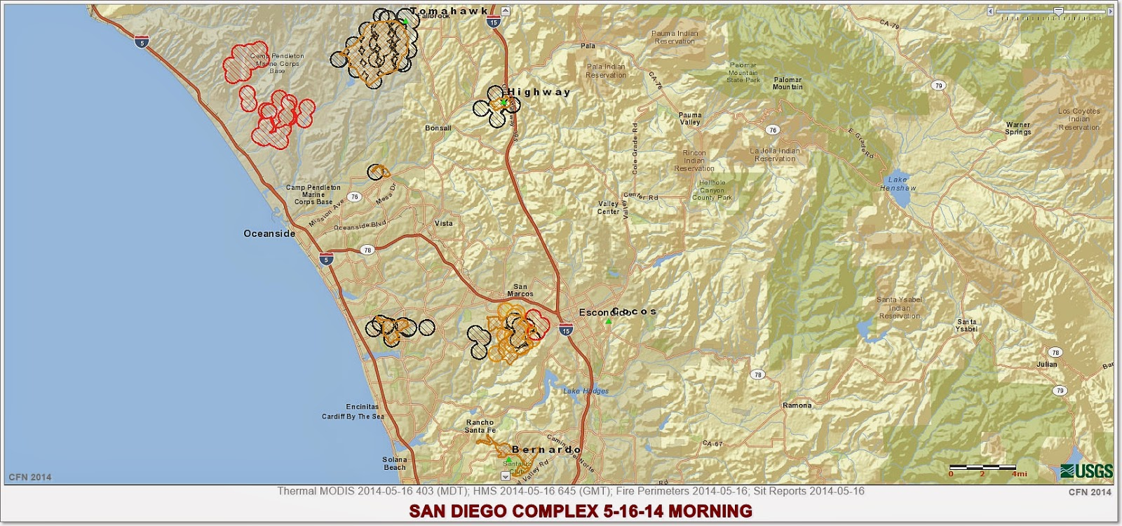 Cfn California Fire News Cal Fire News Quick Look 10 Southern California Wildfires Currently Totals 22 421 Acres Map Cafire
