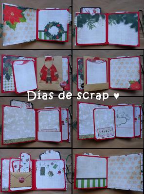 scrap mini album navidad Blokum