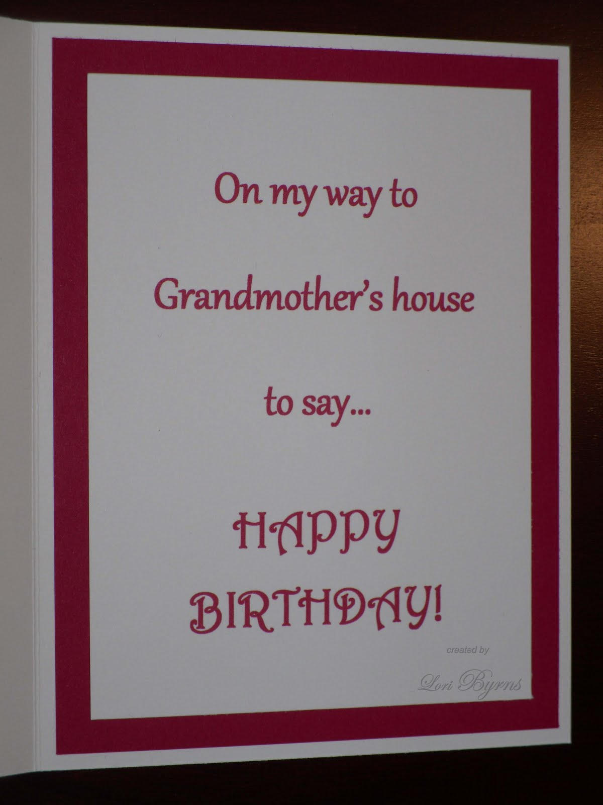 Crazy About Crafts Grandma s Birthday Card 2011