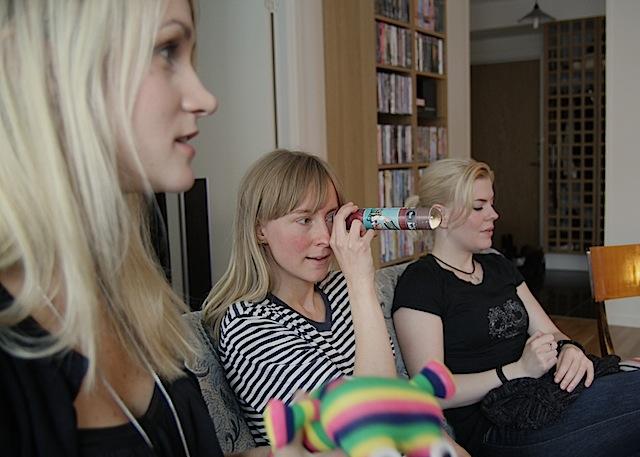 girls at tea party