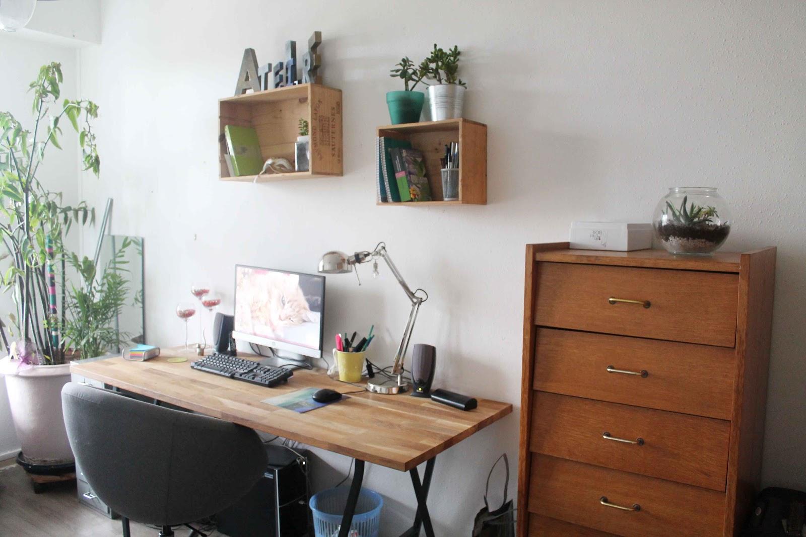 Mon bureau de blogueuse for Bureau plan de travail ikea