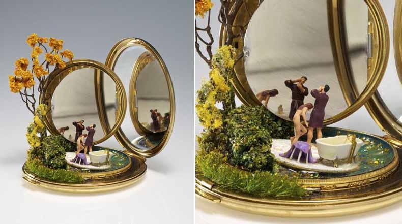 Paisajes en miniatura esculpidos en objetos domésticos por Kendal Murray