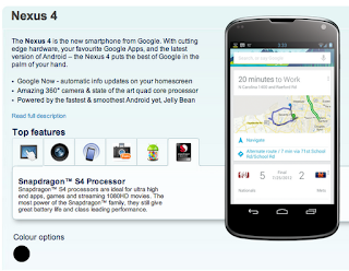 Nexus 4 Smartphone with Snapdragon 1.5GHz Quad-Core CPU