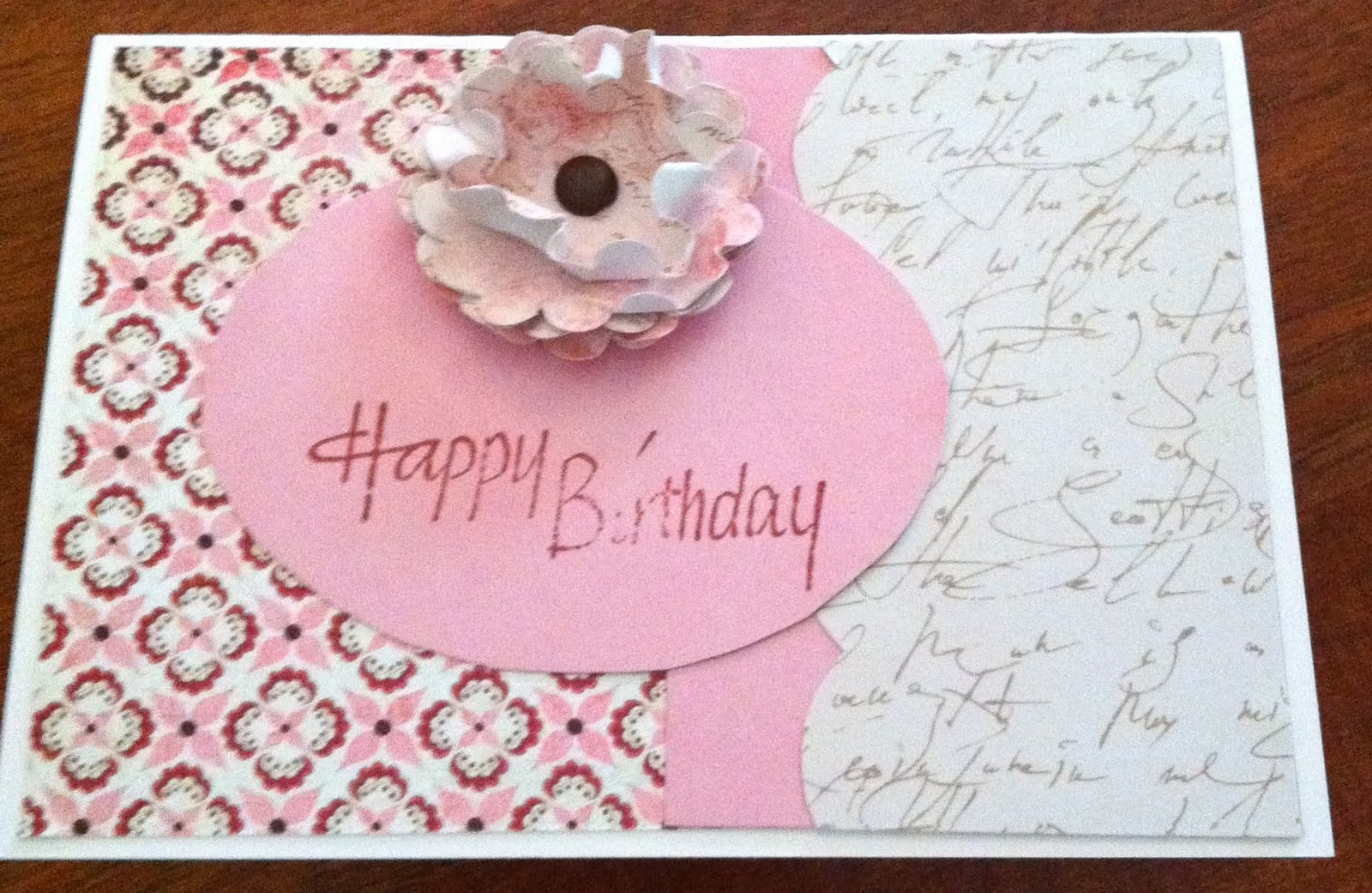 Happy Birthday Shabby Chic Card by CMD Handmade Cards