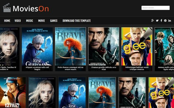 Movies On Responsive Template Blogger Asjor Template