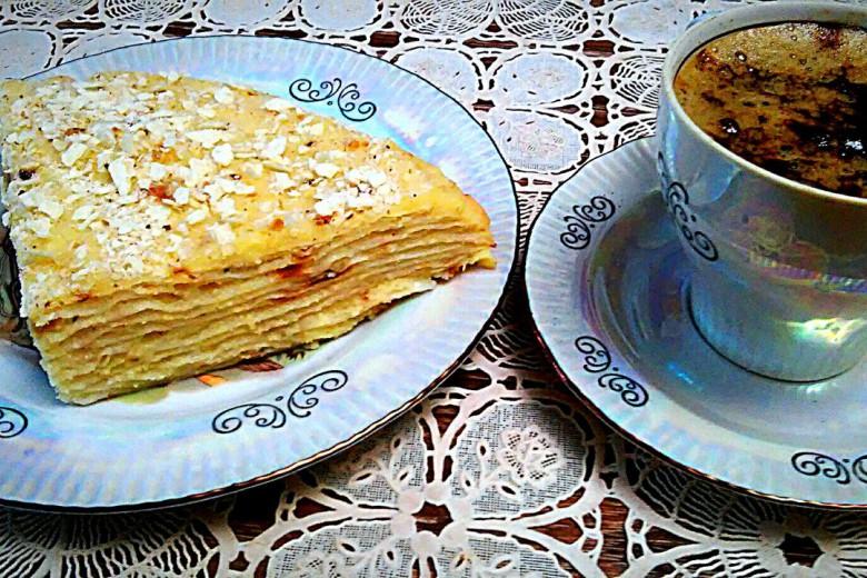 Торт наполеон из лаваша пошаговый рецепт с фото