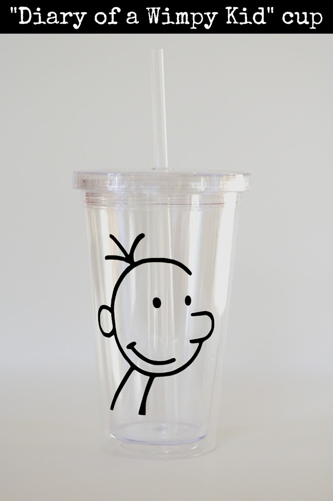 diary of a wimpy kid party favor cup