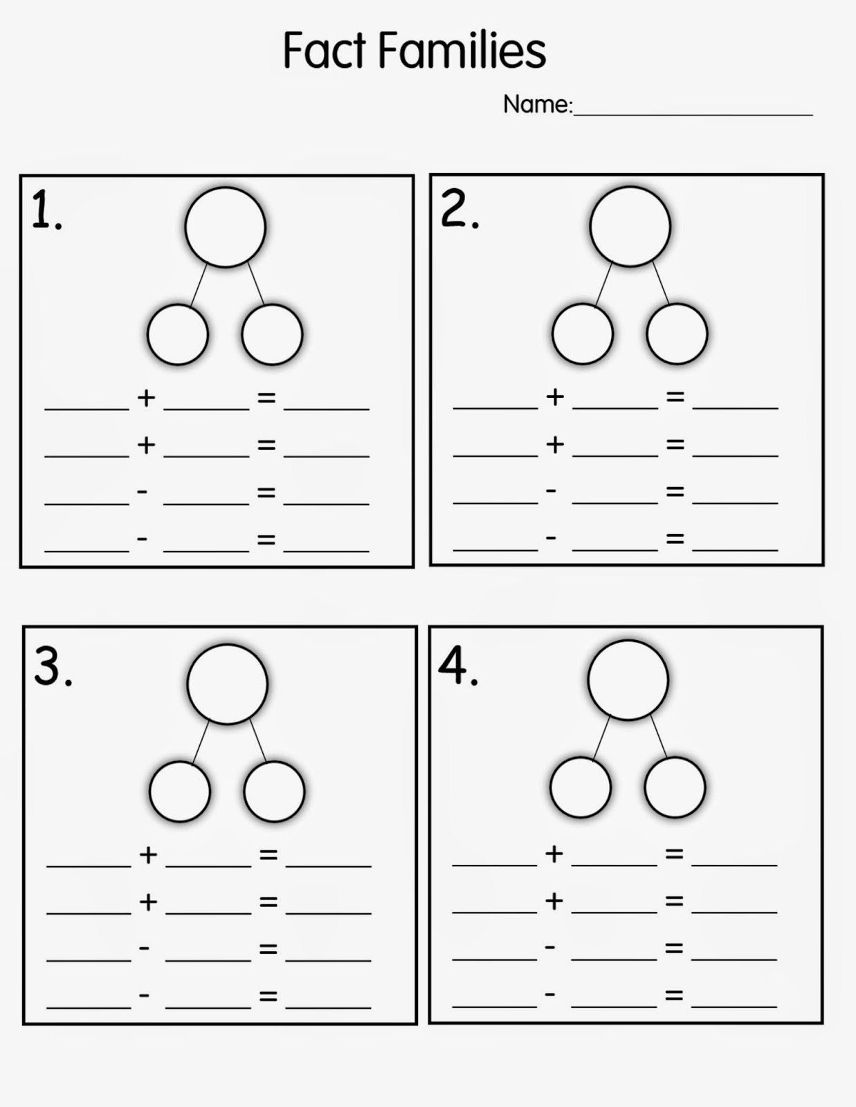Contractions Worksheet 2Nd Grade – Math Fact Families Worksheets 2nd Grade