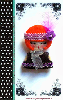 Susies, faces, broches, fieltro, muñecas, handmade