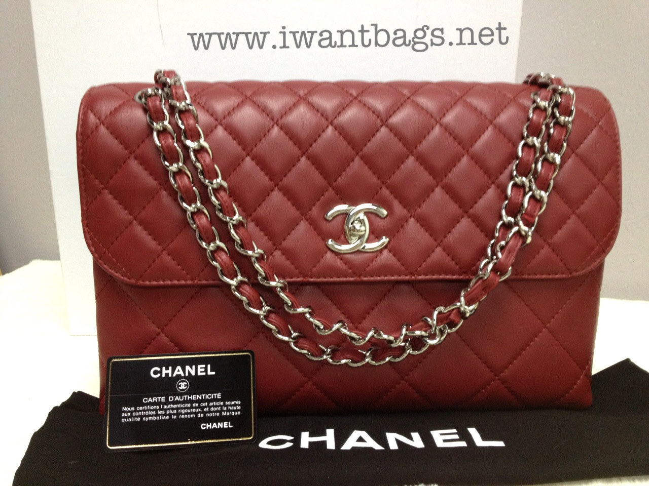 Chanel Business Flap In Red