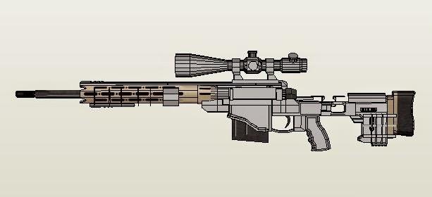 Remington MSR Sniper Rifle Extra Detailed