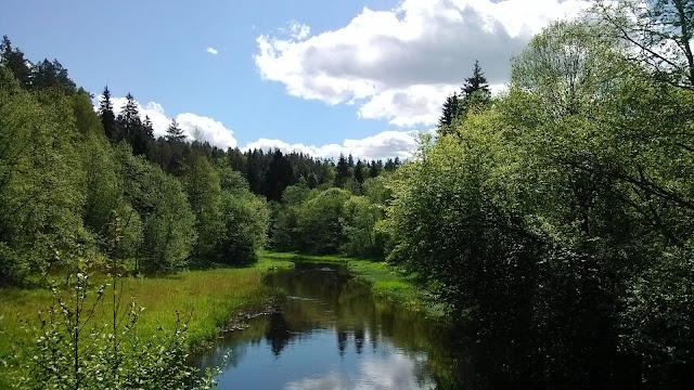 Ahja Eesti Polvamaa river landsape rio paisaje