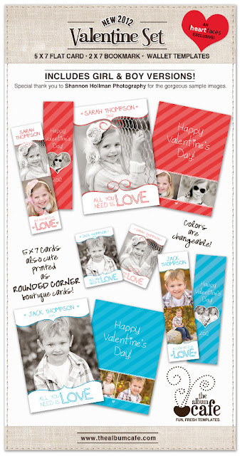 Valentine2012 TheAlbumCafe Valentine Photo Template Roundup