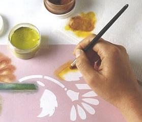 Como hacer plantillas decorativas para pintar estencil - Como hacer plantillas para pintar paredes ...