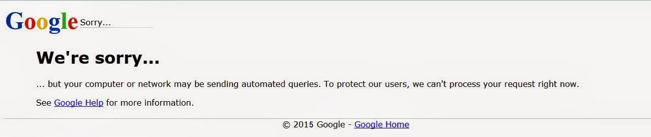 Google We're Sorry