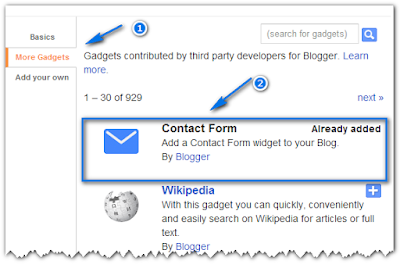 Animated Contact Form Widget for blogger