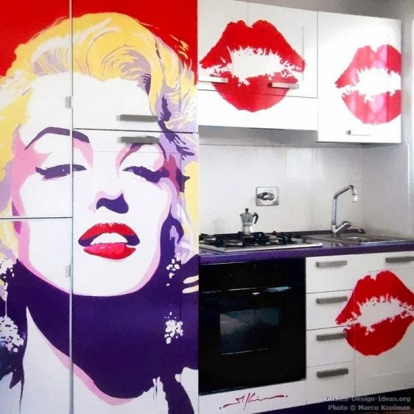 How to decorate a small kitchen goodiy for Kitchen cabinets lowes with wall art marilyn monroe