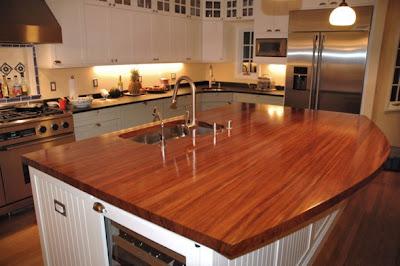 encimera cocina madera