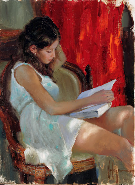 Reading a novel by volegov