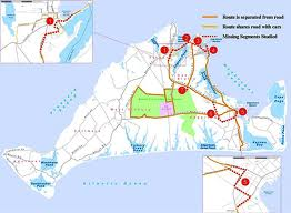 map of Martha's Vineyard Bike Trails