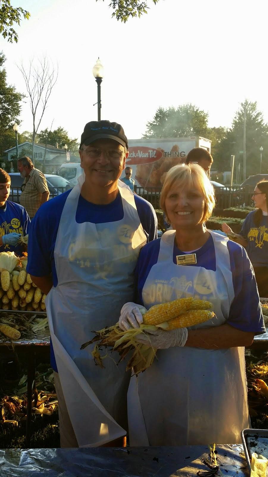 Dipping Corn at the Schererville Corn Roast