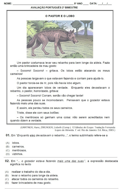 Sugest  O Avalia    O Portugu  S 5   Ano 2   Bimestre