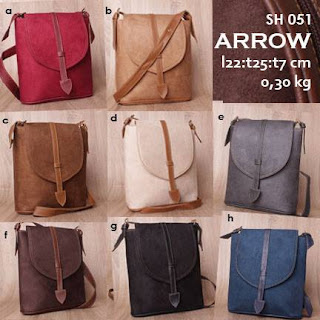 Jual Online Tas Selempang Beludru Simple Murah - Arrow SH 051