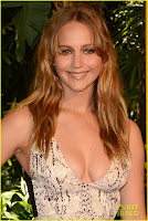 hollywood, hot sexy acress Jennifer, Lawrence, cleavage show, hunger, game, cast