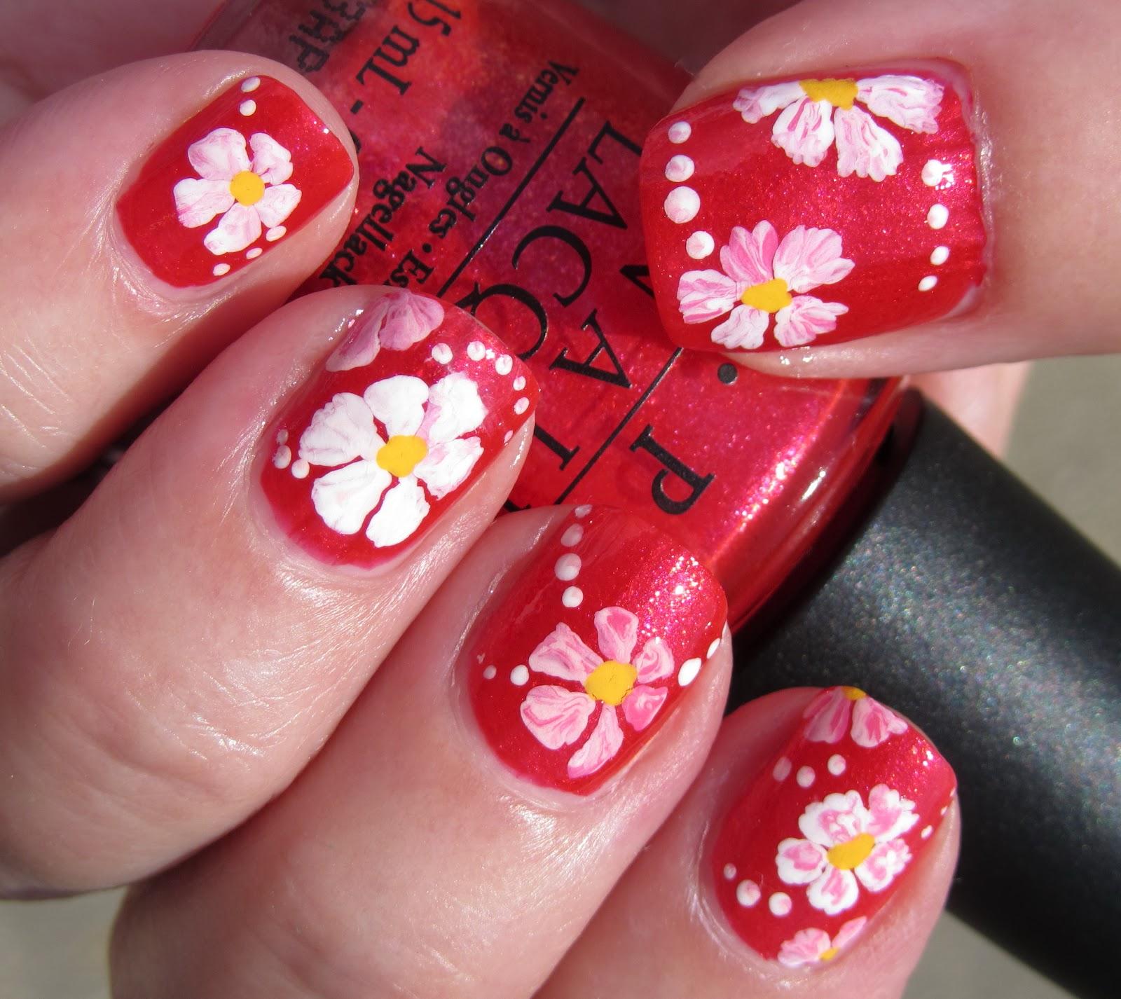 Marias Nail Art and Polish Blog: Matching mani - pedi...