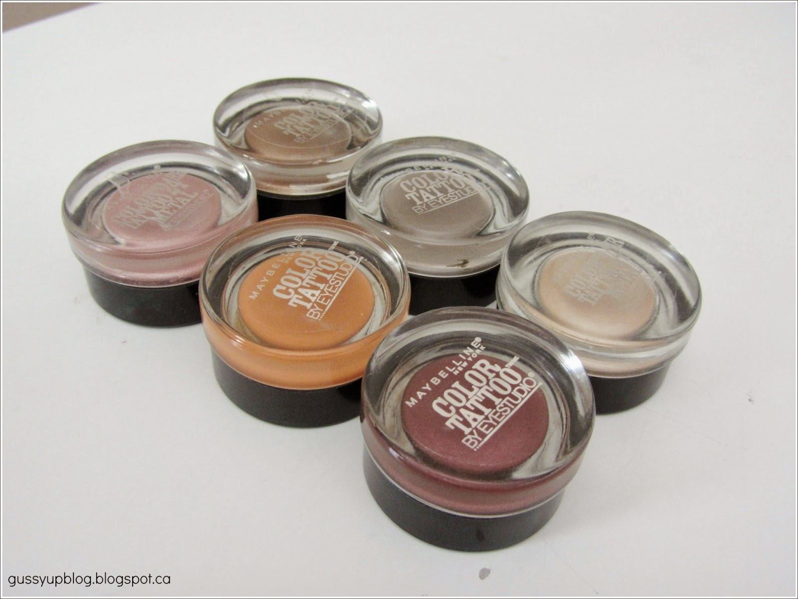 Maybelline Color Tattoo 24 Hour Eyeshadow, Review and Swatches