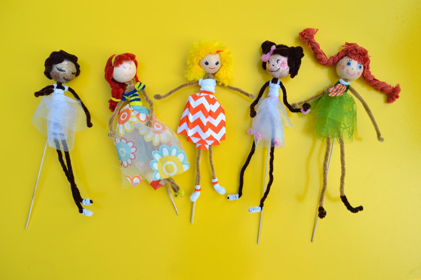 Poup e marionnette facile fabriquer maman bricolage - Comment faire une marionnette ...