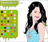 jogos de pintar à Selena Gomez